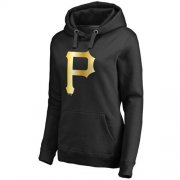 Wholesale Cheap Women's Pittsburgh Pirates Gold Collection Pullover Hoodie Black