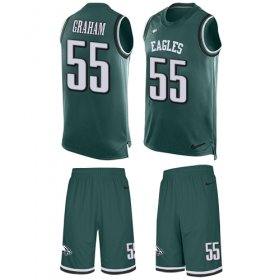Wholesale Cheap Nike Eagles #55 Brandon Graham Midnight Green Team Color Men\'s Stitched NFL Limited Tank Top Suit Jersey
