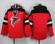 Wholesale Cheap Nike Falcons Blank Red Player Pullover NFL Hoodie