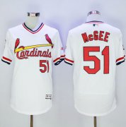 Wholesale Cheap Cardinals #51 Willie McGee White Flexbase Authentic Collection Cooperstown Stitched MLB Jersey