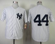Wholesale Cheap Mitchell And Ness 1977 Yankees #44 Reggie Jackson White Throwback Stitched MLB Jersey