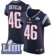 Wholesale Cheap Nike Patriots #46 James Develin Navy Blue Team Color Super Bowl LIII Bound Men's Stitched NFL Vapor Untouchable Elite Jersey