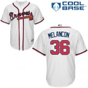 Wholesale Cheap Braves #36 Mark Melancon White New Cool Base Stitched MLB Jersey