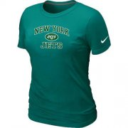 Wholesale Cheap Women's Nike New York Jets Heart & Soul NFL T-Shirt Light Green