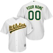 Wholesale Cheap Oakland Athletics Majestic Cool Base Custom Jersey White