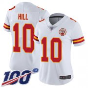 Wholesale Cheap Nike Chiefs #10 Tyreek Hill White Women's Stitched NFL 100th Season Vapor Limited Jersey