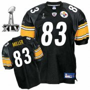 Wholesale Cheap Steelers #83 Heath Miller Black Super Bowl XLV Stitched NFL Jersey