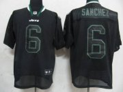 Wholesale Cheap Jets #6 Mark Sanchez Lights Out Black Stitched NFL Jersey