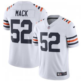 Wholesale Cheap Nike Bears #32 David Montgomery White Alternate Men\'s Stitched NFL Vapor Untouchable Limited 100th Season Jersey