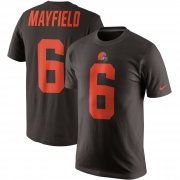 Wholesale Cheap Nike Cleveland Browns #6 Baker Mayfield Color Rush 2.0 Name & Number T-Shirt Brown