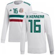 Wholesale Cheap Mexico #16 H.Herrera Away Long Sleeves Soccer Country Jersey