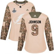 Cheap Adidas Lightning #9 Tyler Johnson Camo Authentic 2017 Veterans Day Women's 2020 Stanley Cup Champions Stitched NHL Jersey