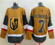 Wholesale Cheap Men's Vegas Golden Knights #7 Alex Pietrangelo Gold 2020-21 Alternate Stitched Adidas Jersey