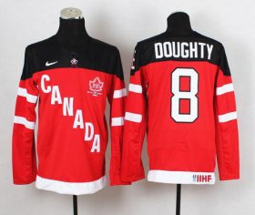 Wholesale Cheap Olympic CA. #8 Drew Doughty Red 100th Anniversary Stitched NHL Jersey