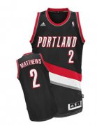 Wholesale Cheap Portland Trail Blazers #2 Wesley Matthews Black Swingman Jersey