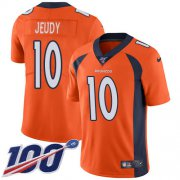 Wholesale Cheap Nike Broncos #10 Jerry Jeudy Orange Team Color Men's Stitched NFL 100th Season Vapor Untouchable Limited Jersey