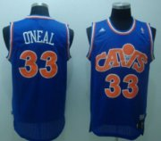 Wholesale Cheap Cleveland Cavaliers #33 Shaquille O'neal CavFanatic Blue Swingman Throwback Jersey