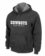Wholesale Cheap Dallas Cowboys Font Pullover Hoodie Dark Grey