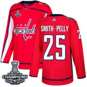 Wholesale Cheap Adidas Capitals #25 Devante Smith-Pelly Red Home Authentic Stanley Cup Final Champions Stitched NHL Jersey