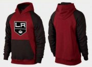 Wholesale Cheap Los Angeles Kings Pullover Hoodie Burgundy Red & Black