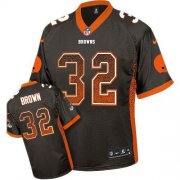 Wholesale Cheap Nike Browns #32 Jim Brown Brown Team Color Men's Stitched NFL Elite Drift Fashion Jersey