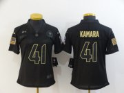 Wholesale Cheap Women's New Orleans Saints #41 Alvin Kamara Black 2020 Salute To Service Stitched NFL Nike Limited Jersey