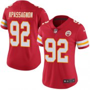 Wholesale Cheap Nike Chiefs #92 Tanoh Kpassagnon Red Team Color Women's Stitched NFL Vapor Untouchable Limited Jersey