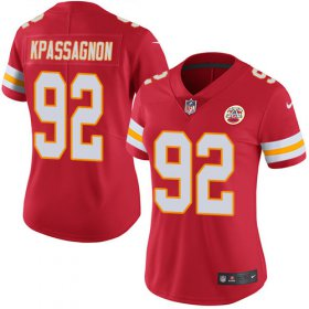Wholesale Cheap Nike Chiefs #92 Tanoh Kpassagnon Red Team Color Women\'s Stitched NFL Vapor Untouchable Limited Jersey