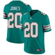 Wholesale Cheap Nike Dolphins #20 Reshad Jones Aqua Green Alternate Men's Stitched NFL Vapor Untouchable Limited Jersey