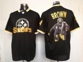 Wholesale Cheap Nike Steelers #84 Antonio Brown Black Men\'s NFL Game All Star Fashion Jersey