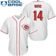 Wholesale Cheap Reds #14 Pete Rose White Cool Base Stitched Youth MLB Jersey