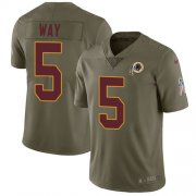 Wholesale Cheap Nike Redskins #5 Tress Way Olive Men's Stitched NFL Limited 2017 Salute To Service Jersey