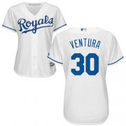 Wholesale Cheap Royals #30 Yordano Ventura White Home Women's Stitched MLB Jersey