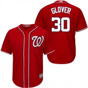 Wholesale Cheap Nationals #30 Koda Glover Red New Cool Base Stitched Youth MLB Jersey