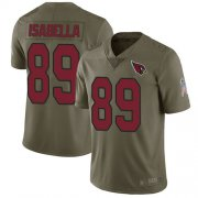 Wholesale Cheap Nike Cardinals #89 Andy Isabella Olive Men's Stitched NFL Limited 2017 Salute to Service Jersey