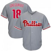 Wholesale Cheap Phillies #18 Didi Gregorius Grey Cool Base Stitched Youth MLB Jersey