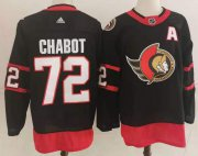 Wholesale Cheap Men's Ottawa Senators #72 Thomas Chabot Black Adidas 2020-21 Stitched NHL Jersey