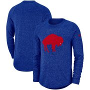 Wholesale Cheap Buffalo Bills Nike Fan Gear Marled Historic Raglan Long Sleeve T-Shirt Royal