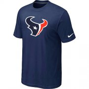 Wholesale Cheap Nike Houston Texans Sideline Legend Authentic Logo Dri-FIT NFL T-Shirt Midnight Blue