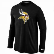Wholesale Cheap Nike Minnesota Vikings Logo Long Sleeve T-Shirt Black