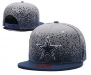 Wholesale Cheap NFL Dallas Cowboys Team Logo Gray Snapback Adjustable Hat L21