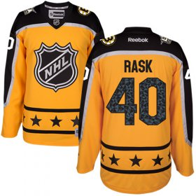 Wholesale Cheap Bruins #40 Tuukka Rask Yellow 2017 All-Star Atlantic Division Women\'s Stitched NHL Jersey