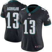 Wholesale Cheap Nike Eagles #13 Nelson Agholor Black Alternate Women's Stitched NFL Vapor Untouchable Limited Jersey