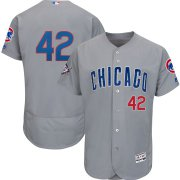 Wholesale Cheap Chicago Cubs #42 Majestic 2019 Jackie Robinson Day Flex Base Jersey Gray