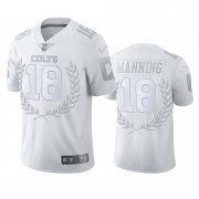 Wholesale Cheap Indianapolis Colts #18 Peyton Manning Men's Nike Platinum NFL MVP Limited Edition Jersey