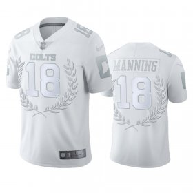 Wholesale Cheap Indianapolis Colts #18 Peyton Manning Men\'s Nike Platinum NFL MVP Limited Edition Jersey