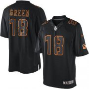 Wholesale Cheap Nike Bengals #18 A.J. Green Black Men's Stitched NFL Impact Limited Jersey
