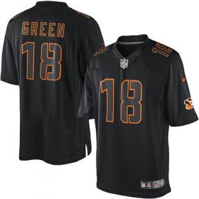 Wholesale Cheap Nike Bengals #18 A.J. Green Black Men\'s Stitched NFL Impact Limited Jersey