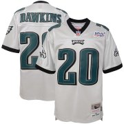 Wholesale Cheap Youth Philadelphia Eagles #20 Brian Dawkins Mitchell & Ness Platinum NFL 100 Retired Player Legacy Jersey