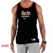Wholesale Cheap Men's Nike Arizona Diamondbacks Home Practice Tank Top Black